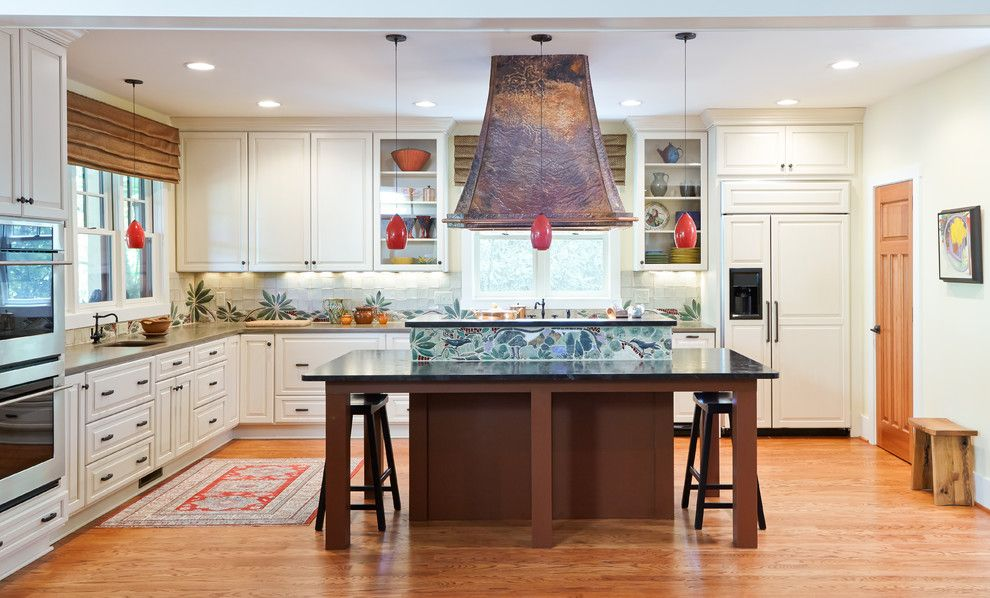Precision Countertops for a Traditional Kitchen with a Custom Cabinetry and Grandfather Mountain Luxury Home by Morehouse Interiors