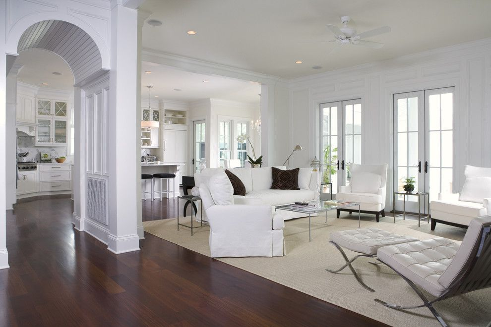 Pro Source Flooring for a Traditional Family Room with a French Doors and Wall Residence Family Room by Max Crosby Construction
