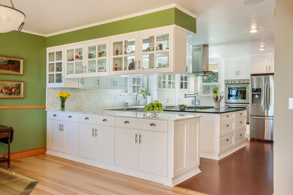 Prosource Flooring for a Traditional Kitchen with a Pot Filler and Traditional Kitchens by Kathryn W. Brown   Prosource Spokane
