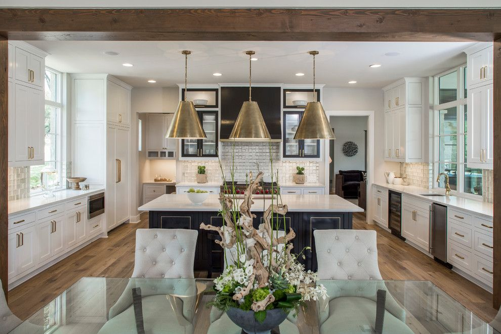 Prosource Flooring for a Transitional Kitchen with a Transom Windows and Luxury Home Magazine Parade of Homes by Kelle Contine Interior Design, Llc