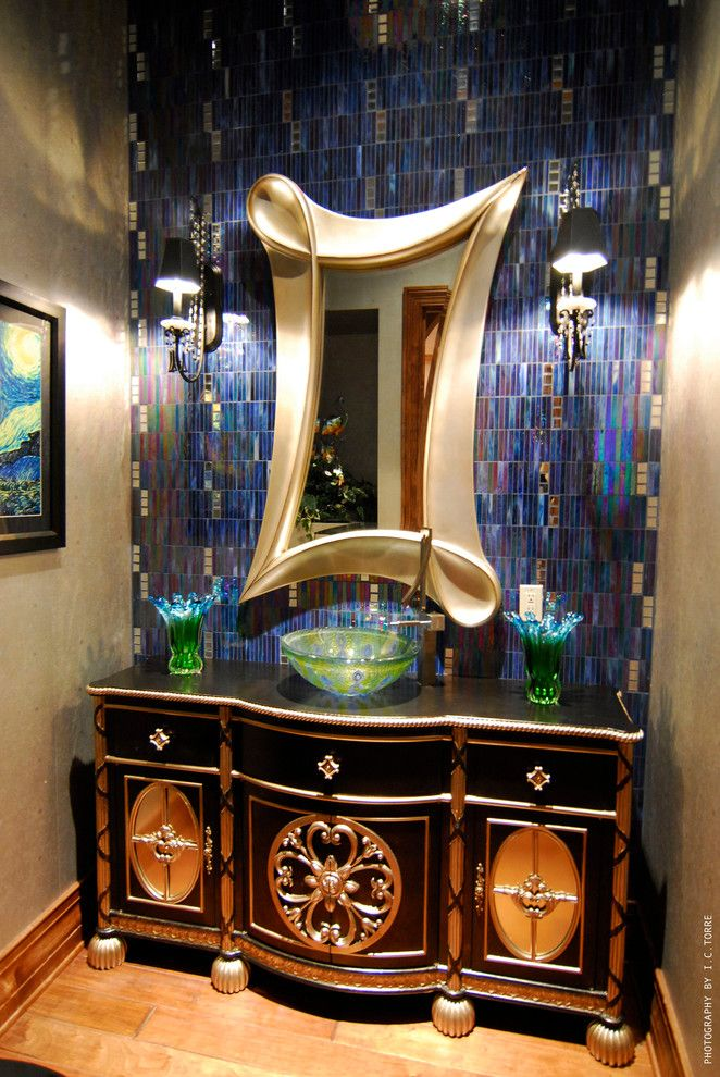 Prosource Orlando for a Mediterranean Powder Room with a Mediterranean and Chateau D'usse (By: Hillcrest Homes) by Mjs Inc. Custom Home Designs