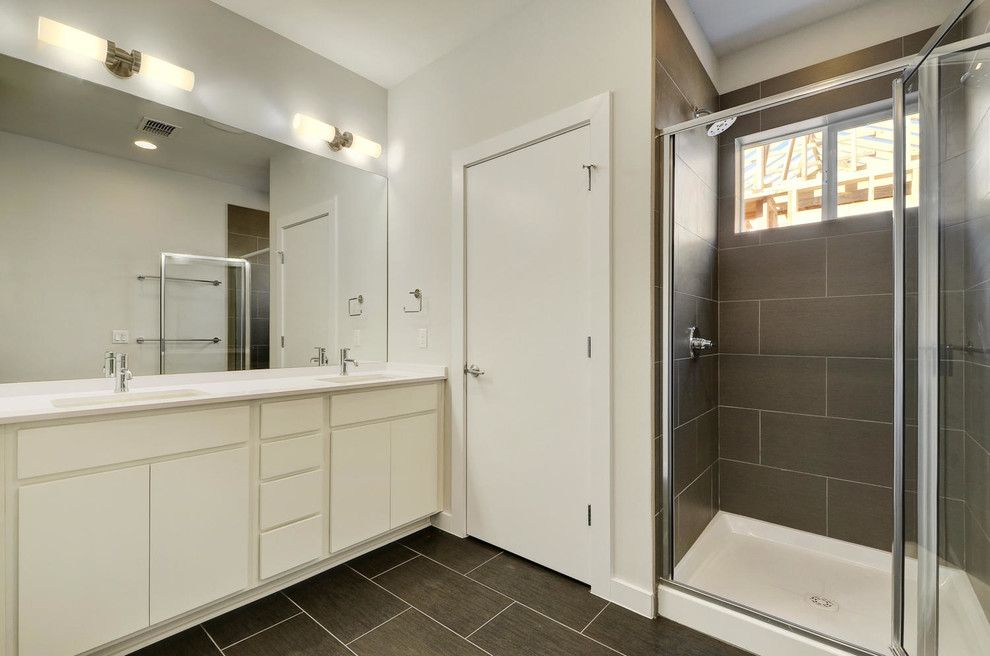 Psw Real Estate for a Modern Bathroom with a Stainless Steel Faucet and Sweetbriar by Psw Real Estate