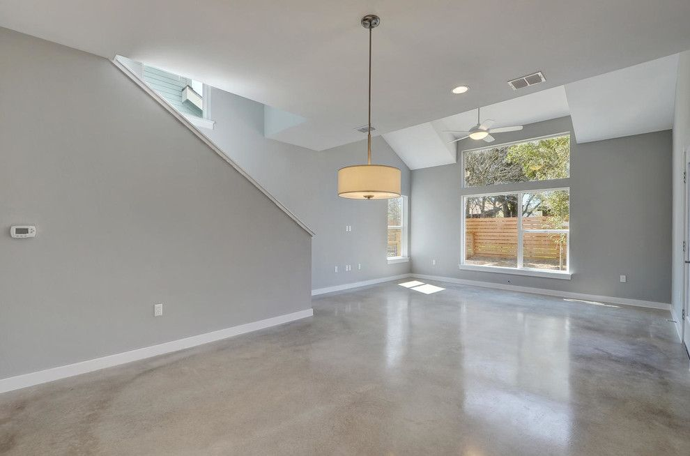 Psw Real Estate for a Modern Living Room with a Wood Floor and Sweetbriar by Psw Real Estate