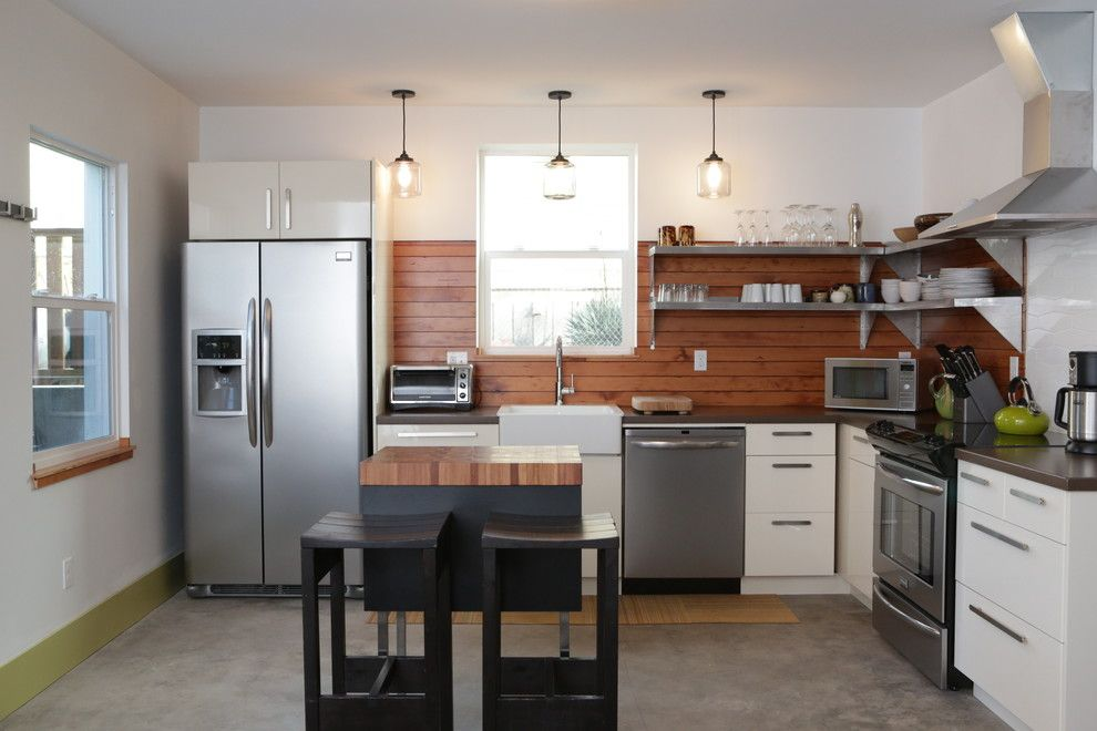 Pullman Building Supply for a Contemporary Kitchen with a L Shape Layout and Shift Vacation Rentals by Encircle Design and Build