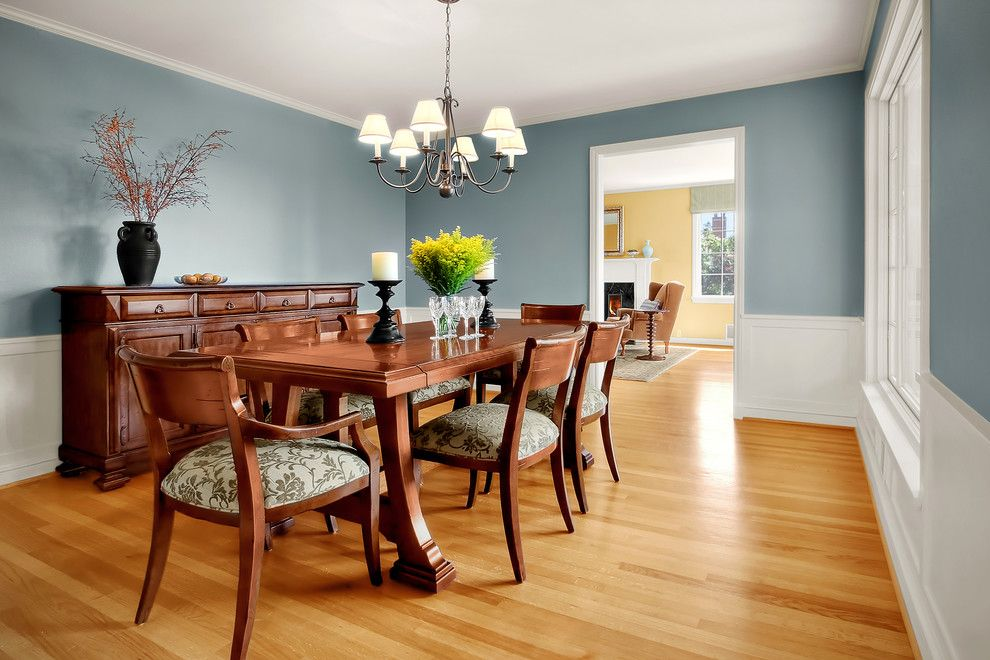 Puritan Furniture for a Traditional Dining Room with a Sideboard and Queen Anne Residence 05 by Michael Knowles, Architect