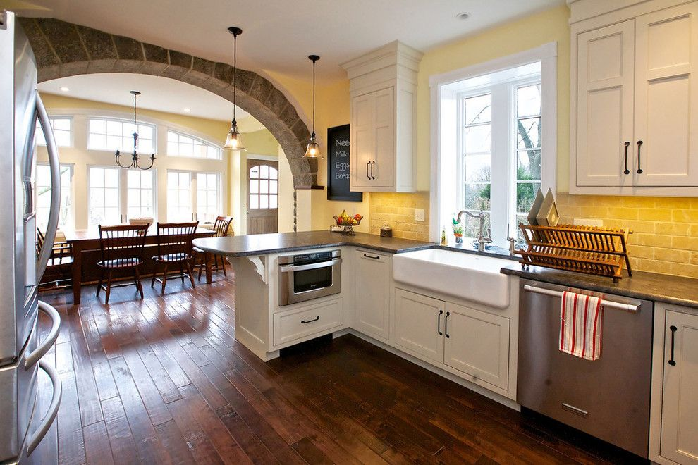 Quaker Windows for a Traditional Kitchen with a Yellow and Wagner Residence- Rosemont, PA by ABK Today