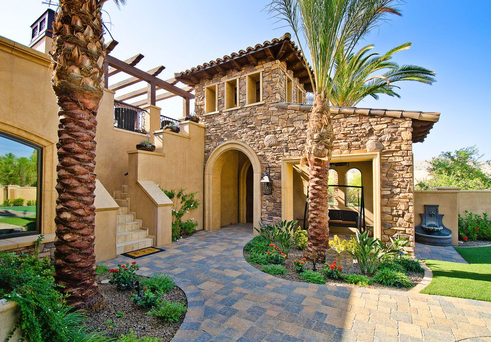 Quality Stone Veneer for a Mediterranean Exterior with a Beach House and Beautiful Beach House Stone Veneer Combo - Coronado Stone Veneer by Coronado Stone Products