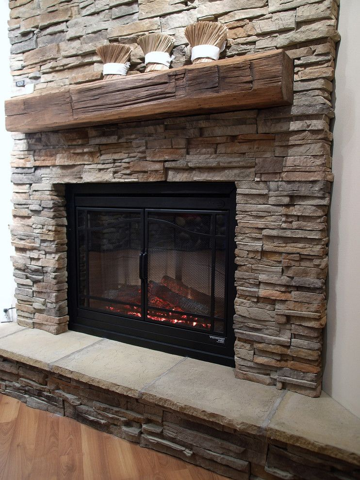 Quality Stone Veneer for a Traditional Living Room with a Electric Fireplaces and Stone Fireplaces by Stone Selex