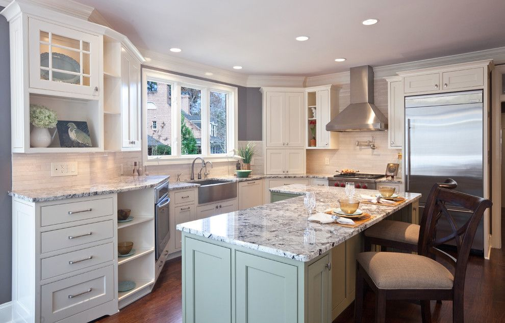 Quartzite vs Granite for a Contemporary Kitchen with a Kitchen Hardware and Teri Turan by Turan Designs, Inc.