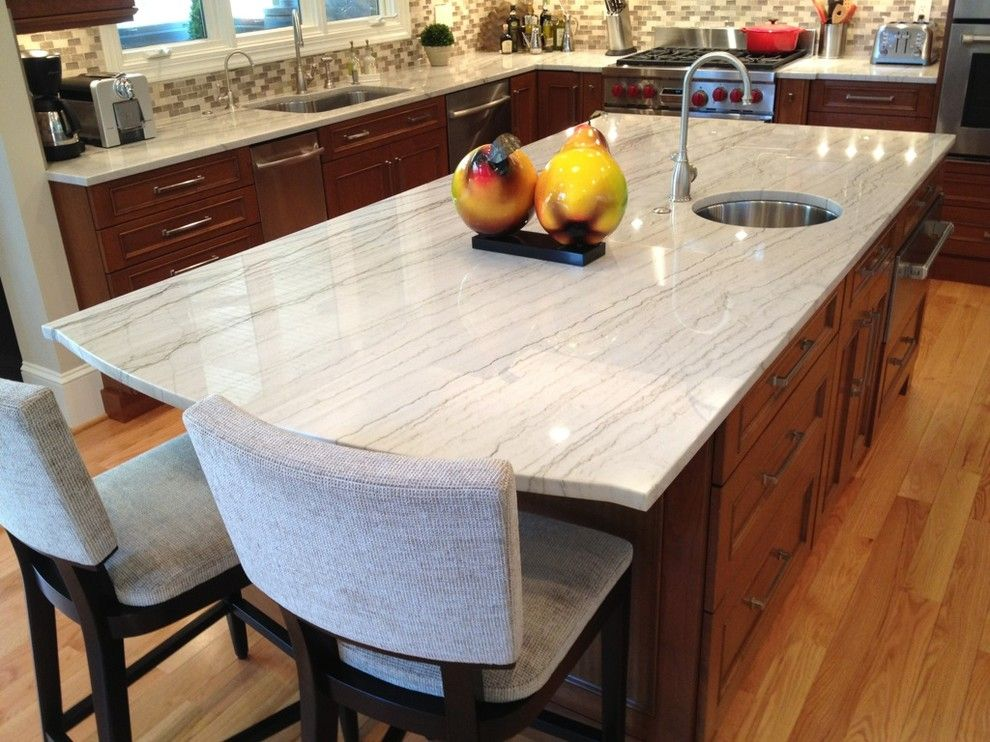Quartzite vs Granite for a Traditional Kitchen with a Oakton General Contractor and Elegant Oakton Kitchen Dazzles! by Courthouse Design/build   Kitchens & Baths