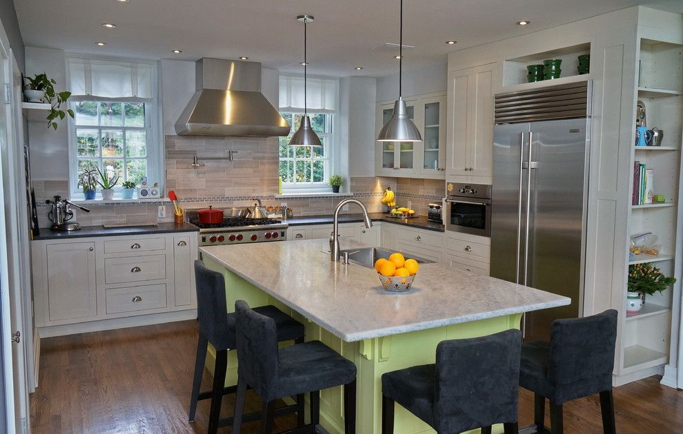 Quartzite vs Granite for a Traditional Kitchen with a White Drawers and Bala Cynwyd Pa Kitchen by Main Line Kitchen Design