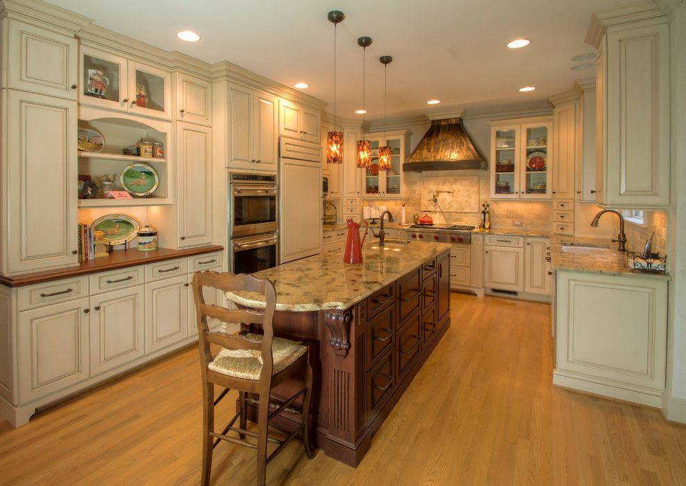 Queen City Appliance for a Traditional Kitchen with a Wolf Warming Drawer and Piper Glenn Kitchen Remodel by Rosa Dest Interiors