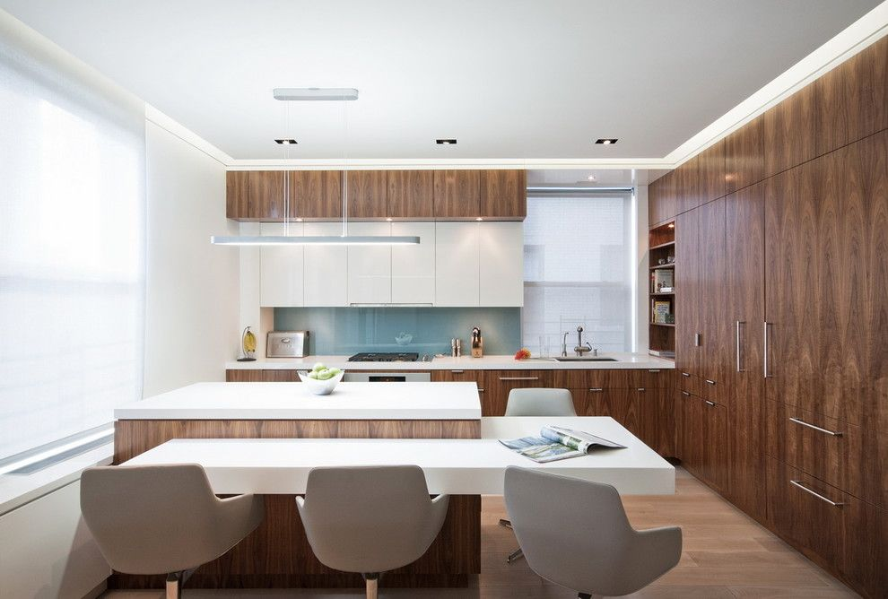 Radiant Plumbing for a Modern Kitchen with a Two Tone Cabinets and Upper West Side Combo by Studiolab, Llc