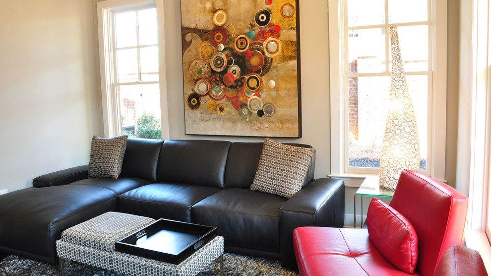 Rapport Furniture for a Modern Living Room with a Sculpture and Rwc Home Tour by Cantoni Atlanta