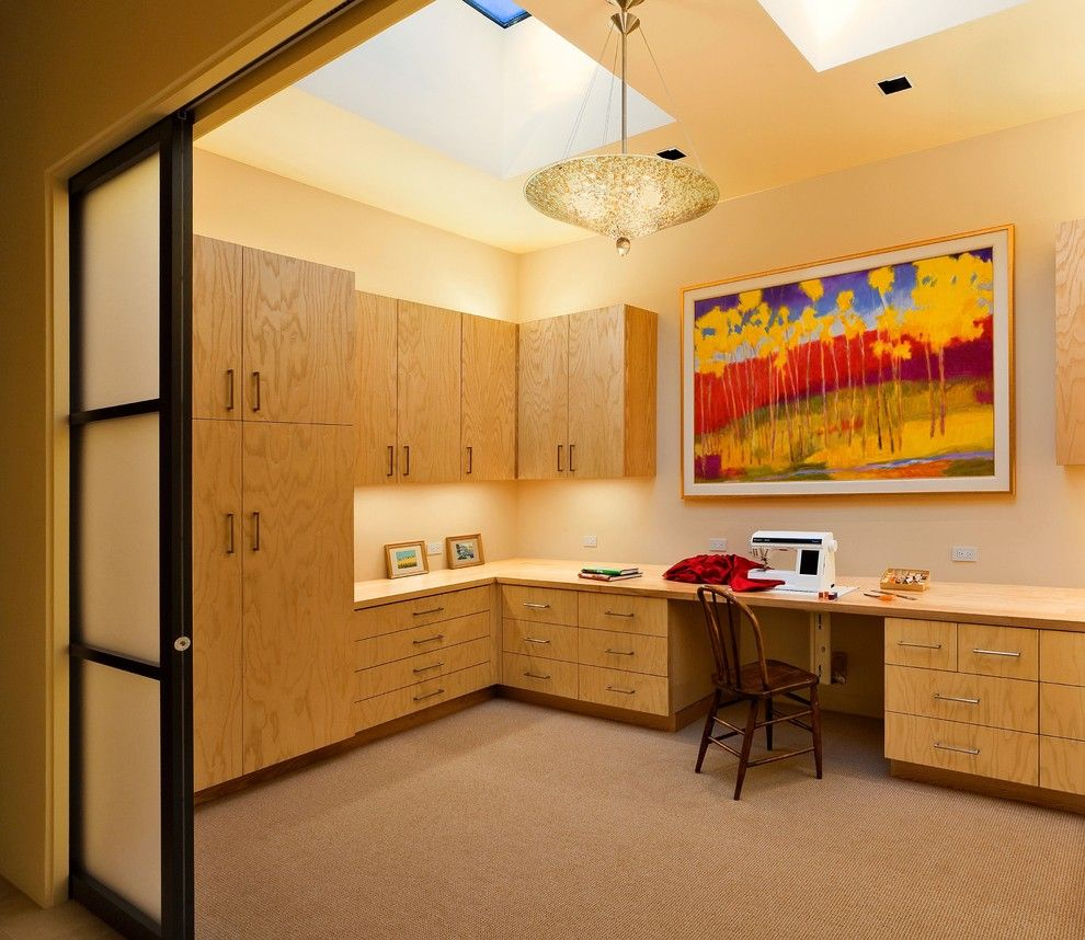 Raydoor for a Contemporary Home Office with a Studio and Albion Residence by Ana Williamson Architect