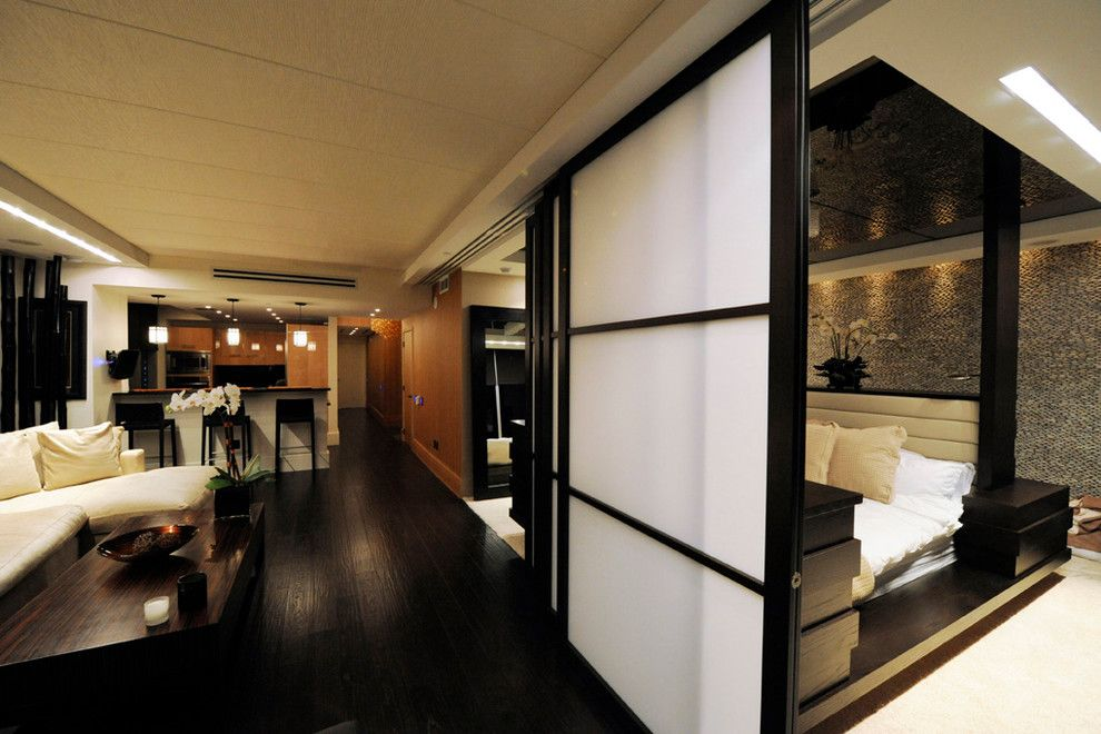 Raydoor for a Contemporary Spaces with a Sliding Doors and Residence, Km Plaza by Raydoor