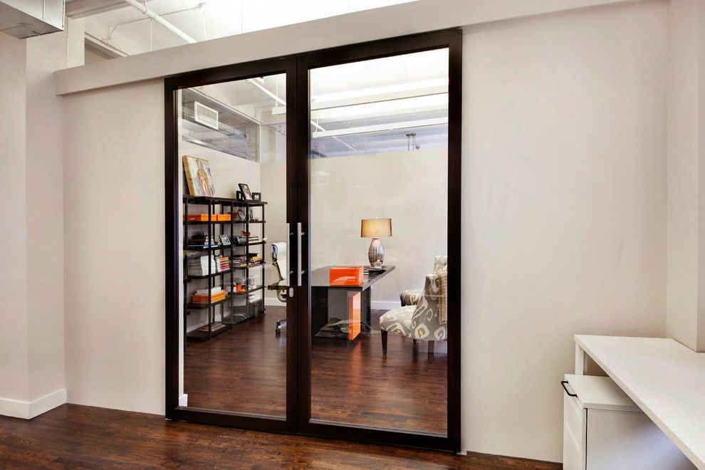 Raydoor for a Spaces with a Sliding Barn Doors and Wimberly