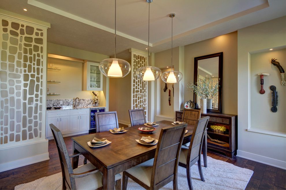 Redi Floors for a Transitional Dining Room with a Open Floorplan and a Modern Family Home in Omaha by Crestviewdoors