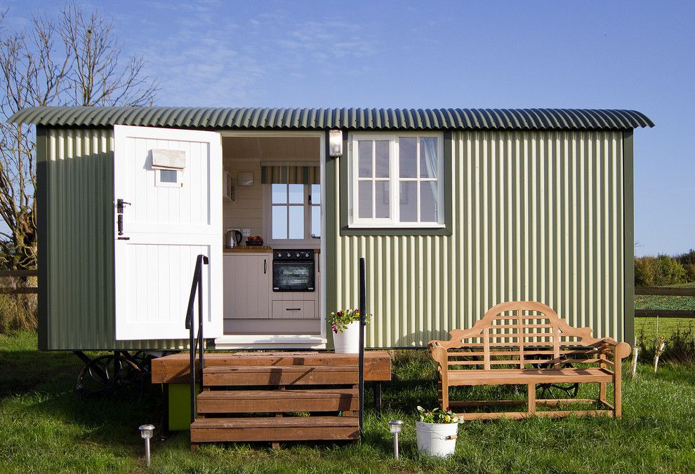 Reeds Ferry Sheds for a Farmhouse Shed with a Summer Houses and Self Contained Huts by Riverside Shepherd Huts Ltd