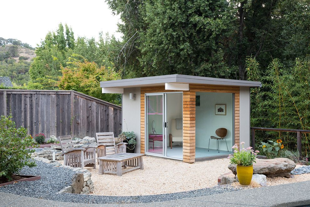 Reeds Ferry Sheds for a Midcentury Shed with a Pool House and Norcal Eichler Renovation by Gast Architects