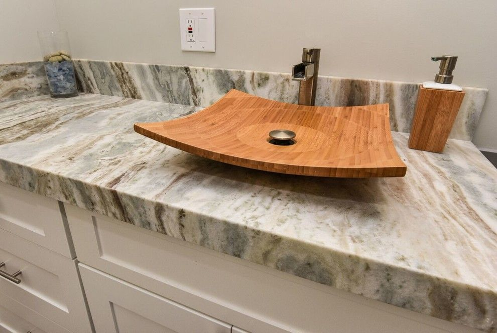 Reef Builders for a Beach Style Bathroom with a Bathroom Cabinets and 7156alder Californiacoastal by Reef Builders Llc