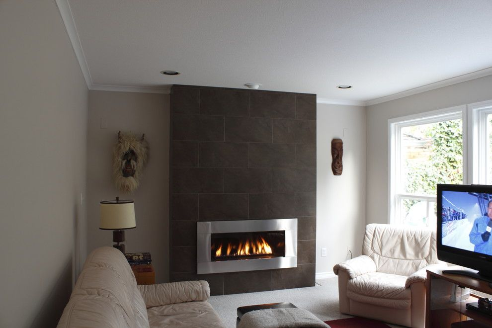 Regency Fireplace for a Contemporary Family Room with a Contemporary and Fireplace Wall by Vanursu