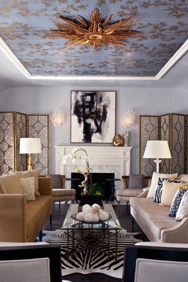 Regency Fireplaces for a Transitional Living Room with a Decorative Pillows and Hollywood Residence by Elizabeth Gordon