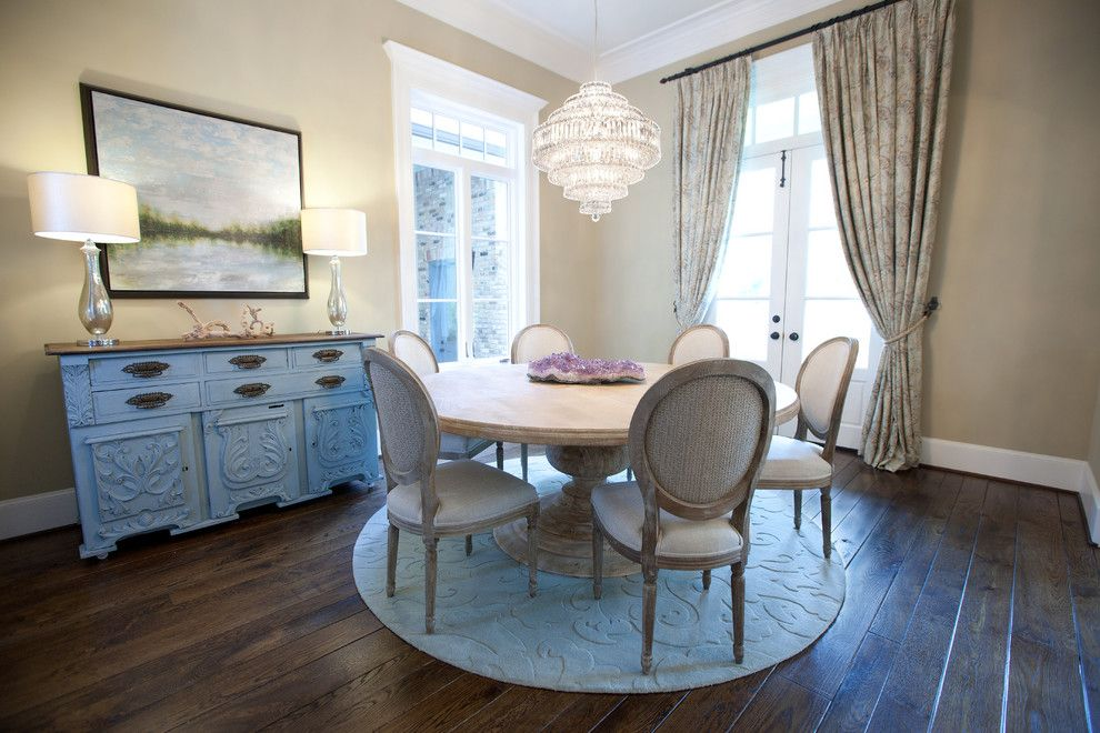 Ren Wil for a Shabby Chic Style Dining Room with a Chandelier and Tholen House by Maison Market
