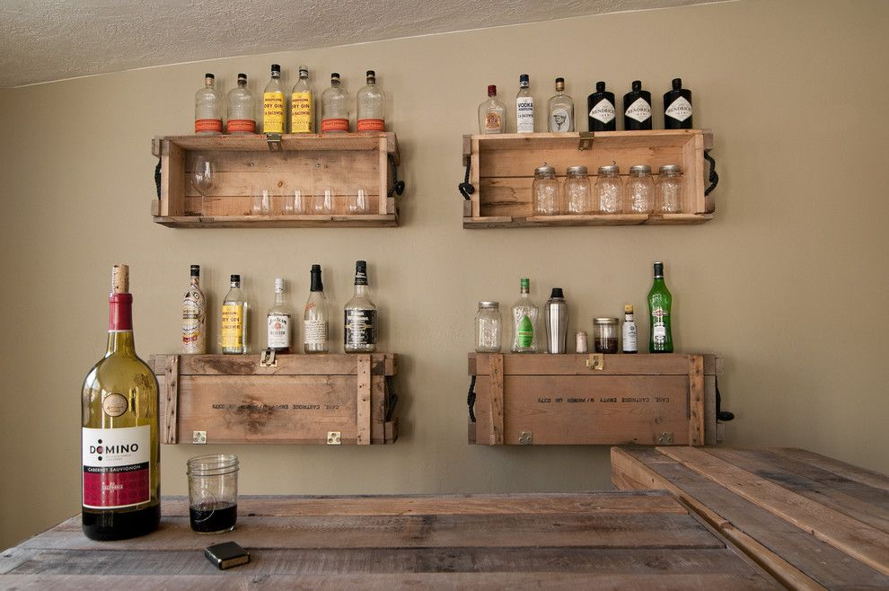 Repurposed Pallets for a Eclectic Family Room with a My Houzz and My Houzz: Eclectic Repurposing Fits First Time Homeowners in Utah by Lucy Call