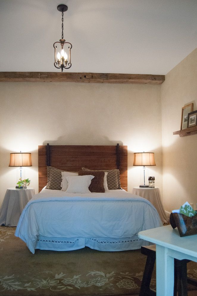 Repurposed Pallets for a Farmhouse Bedroom with a Country and Gary + Gayle: Cincinnati, Ohio by Adrienne Derosa