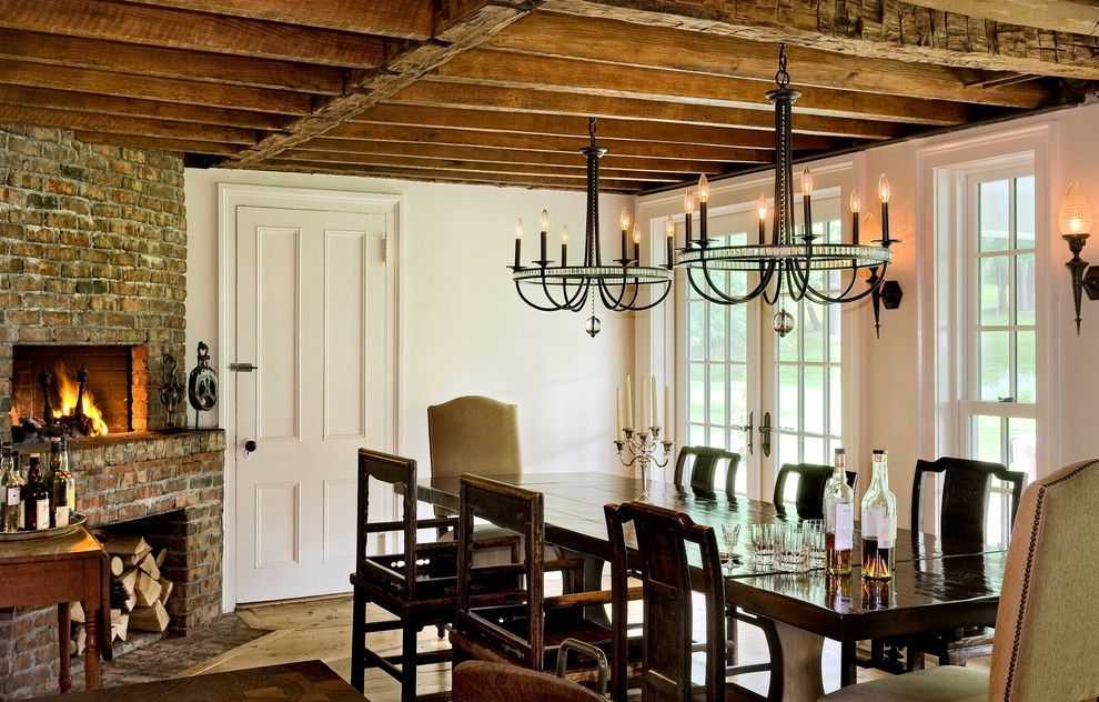 Restoration hardware.com for a Farmhouse Dining Room with a Renovation and Crisp Architects by Crisp Architects