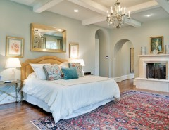 Restoration Hardware Paint for a Traditional Bedroom with a Small Nightstand and Gillon Highland Park by TATUM BROWN CUSTOM HOMES