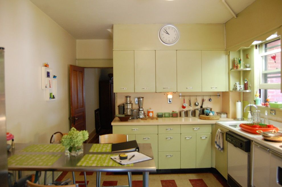 Retro Renovation for a Eclectic Kitchen with a Before and Retro Kitchen Renovation by Meredith Ericksen