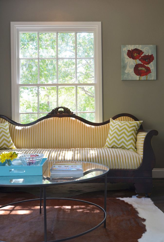 Reupholstered for a Traditional Living Room with a Glass and Dallas, TX: Ross & Megan Brown by Sarah Greenman