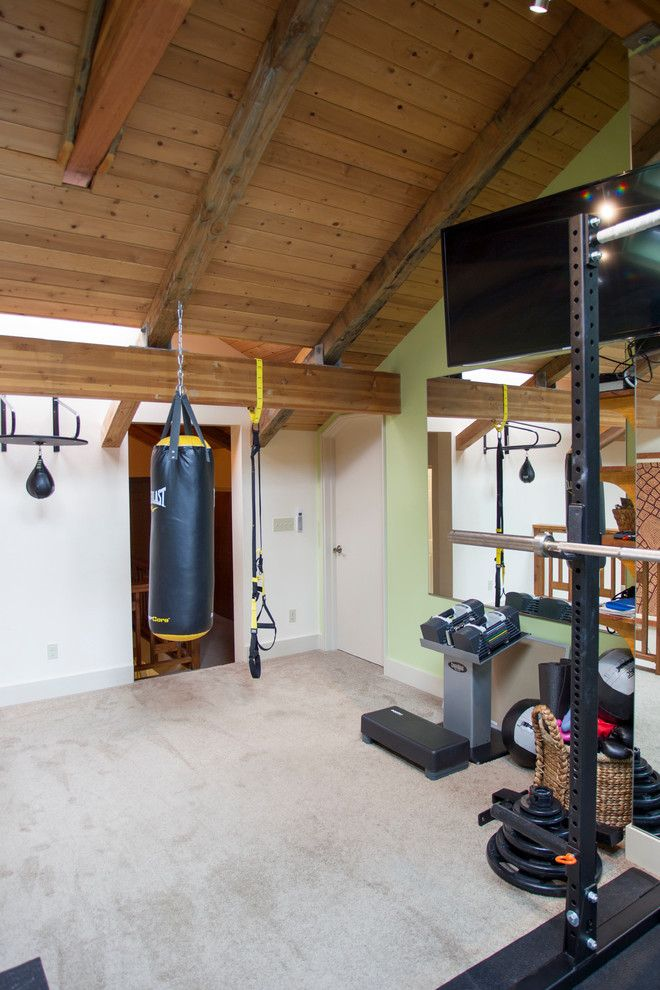 Reuse Hawaii for a Transitional Home Gym with a Pilates and Wavecrest Waikii Renovations by Paul M. Donoho, Architect