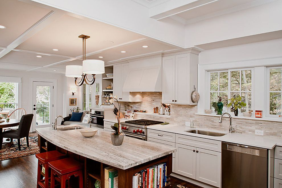 Revere Pewter Benjamin Moore for a Traditional Kitchen with a Aging in Place and Kitchen by Renewal Design Build