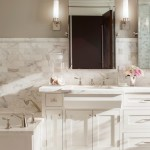 Revere Pewter for a Traditional Bathroom with a Calacata and Palo Alto Traditional by Scavullodesign Interiors