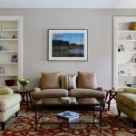 Revere Pewter for a Traditional Living Room with a White Casing and Fitler Square Renovation by Rasmussen / Su Architects