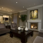 Revere Pewter for a Transitional Living Room with a Open Floor Plan and Honore Transitional Living Room & Dining Room by Michael Abrams Limited
