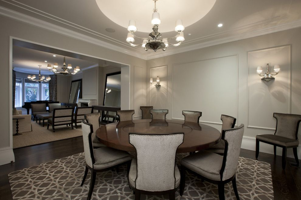 Revere Pewter Paint for a Contemporary Dining Room with a Wall Lighting and Dining Room by Michael Abrams Limited