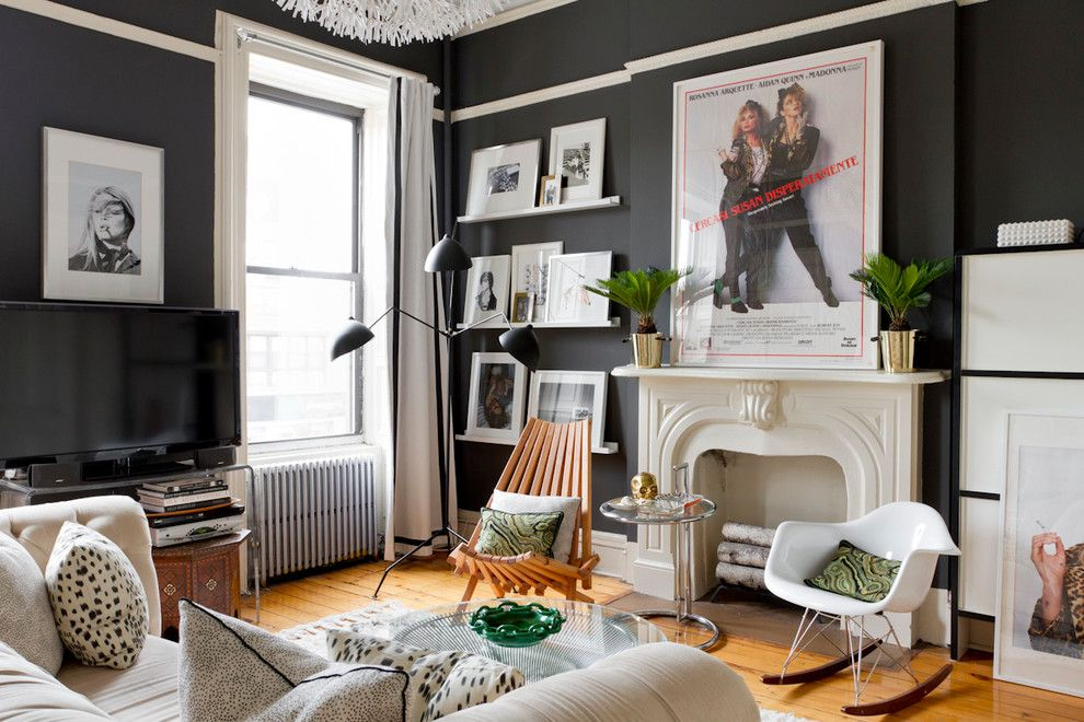 Ribba Picture Ledge for a Eclectic Living Room with a Windows and My Houzz: Cody Mcburnett by Rikki Snyder