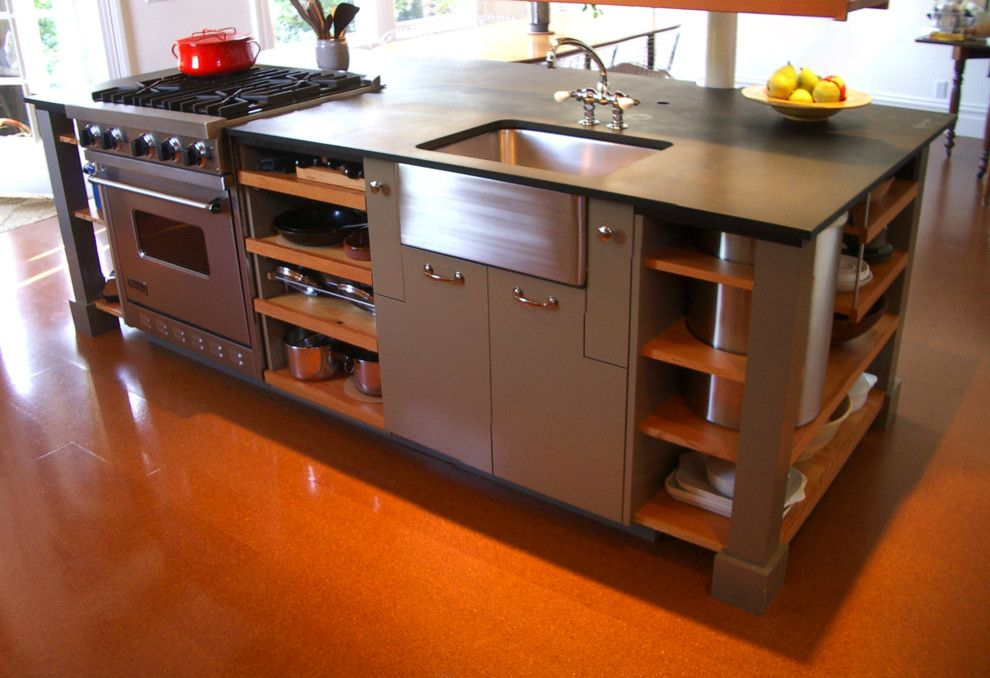Richlite for a Industrial Kitchen with a Industrial and Spring Kitchen by Actual Size Architecture