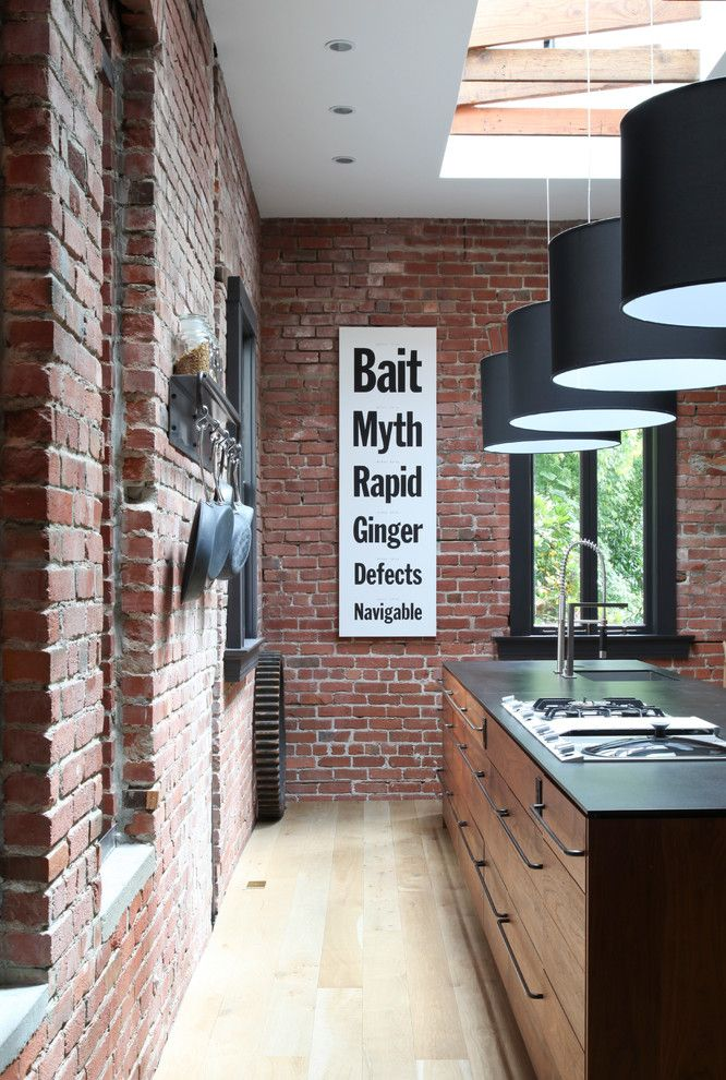 Richlite for a Modern Kitchen with a Skylight and Lovell Kitchen by Union Studio