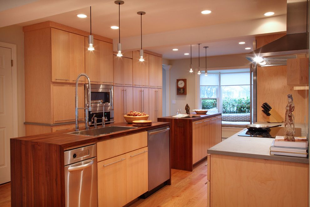 Rings End Darien for a Contemporary Kitchen with a Kitchen Faucets and Greenwich, Ct Residence by Suzette Sherman Design