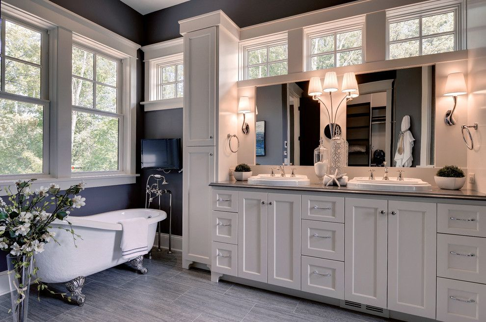 Rings End Darien for a Traditional Bathroom with a His and Hers and 2013 Luxury Home Inver Grove Heights by Highmark Builders