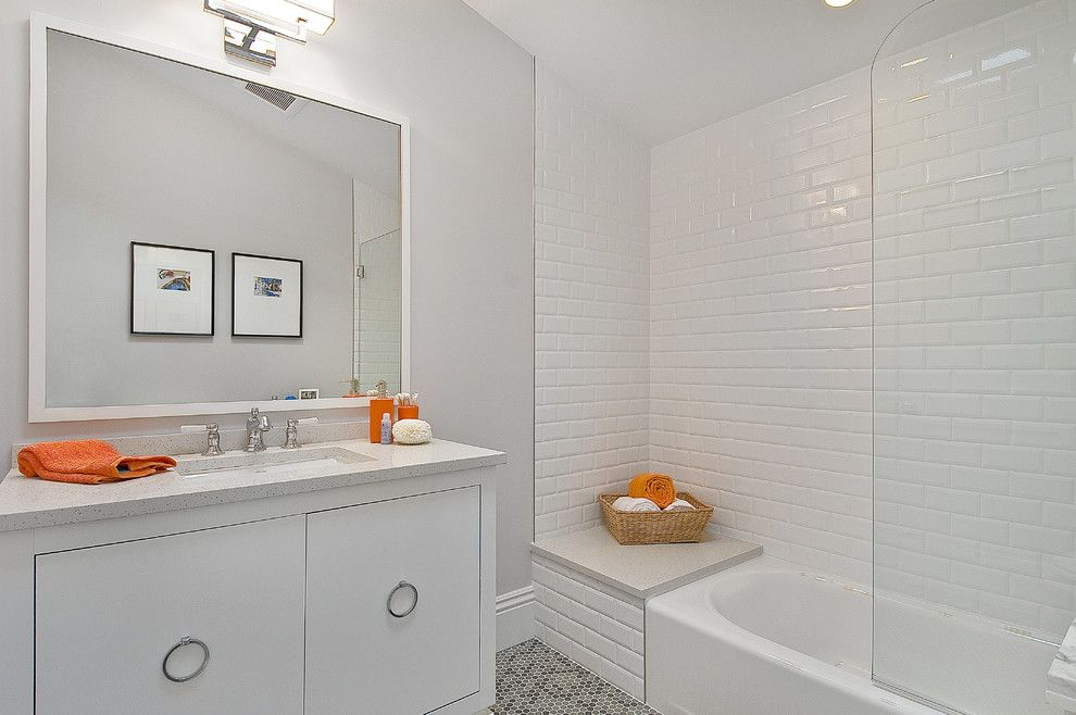 Rings End Darien for a Traditional Bathroom with a Single Sink and Kids Bathroom by Cardea Building Co.
