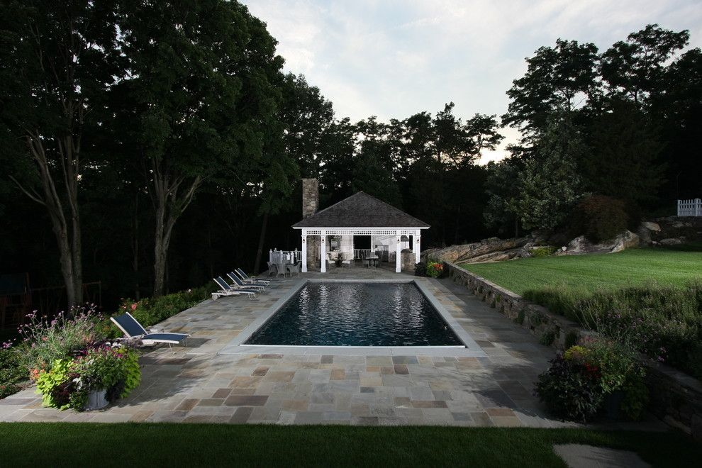 Rising Sun Pools for a Traditional Pool with a Daniel Contelmo Architects and Westchester Whimsy by Daniel Contelmo Architects