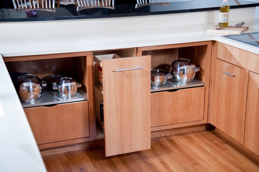Riverhead Building Supply for a Contemporary Kitchen with a Bar Height Countertop and East Quogue, New York by Riverhead Building Supply