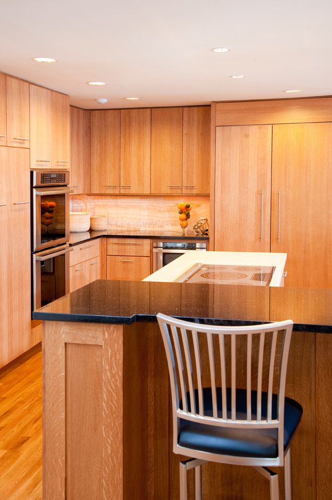 Riverhead Building Supply for a Contemporary Kitchen with a Refrigerator and East Quogue, New York by Riverhead Building Supply