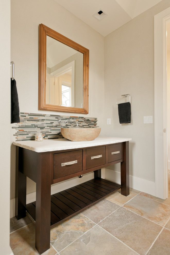Riverhead Building Supply for a Contemporary Powder Room with a Powder Room and Sag Harbor, New York by Riverhead Building Supply